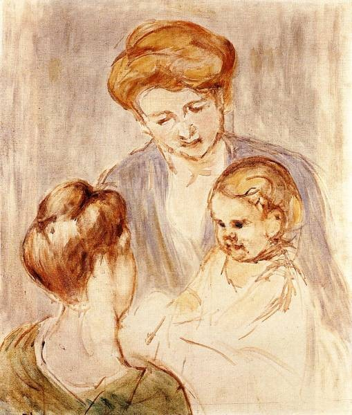 A Baby Smiling at Two Young Women